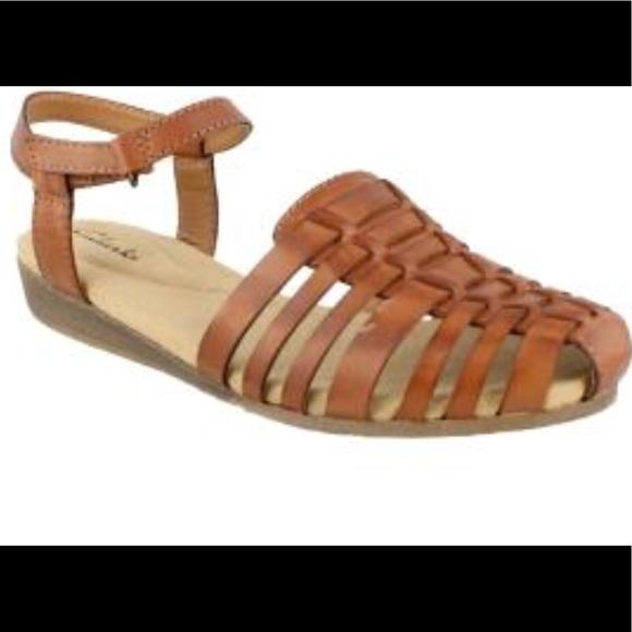 cfeda47d4d0864 Clarks Shoes - Clarks 10M Women s Jaina Canary huarache Sandals
